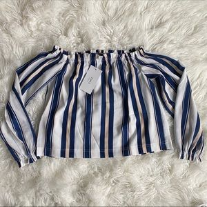 ZAFUL Off the shoulder striped blouse